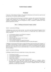 thumbnail of Code de bonne conduite